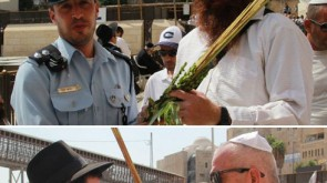 Huge Crowds Bentsch Lulav at the Kotel with Chabad