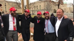 VIDEO OF THE DAY: Lubavitcher Trump Supporters dance with Alex Jones