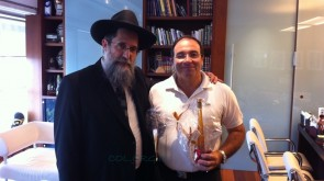Chabad Community Leader Visits Rishon Letzion Mayor
