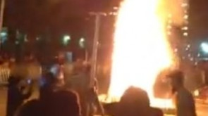 VIDEO: Lag B'Omer Bonfire in Crown Heights
