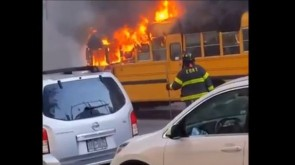 VIDEO: SCHOOL BUS PARKED @ BAIS RIVKAH GOES UP IN FLAMES