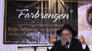 PHOTOS: 6th Yahrtzeit of Rabbi Levitansky commemorated