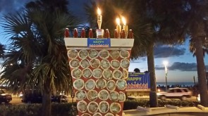 VIDEO OF THE DAY - CLEARWATER, FL: World's First Ever Giant Pizza Menorah featured on Fox