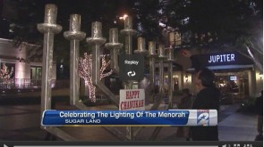 VIDEO: Menorah Lighting in Sugarland, TX